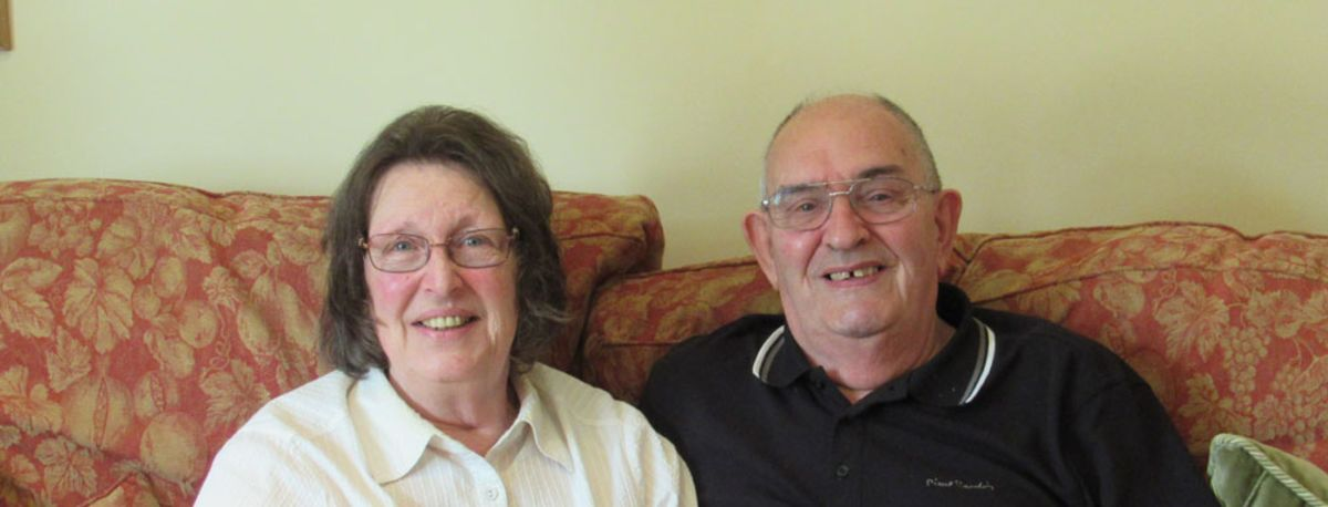 photo of Derek with his wife, Susan