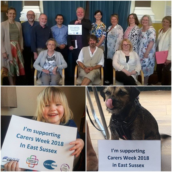 collage gallery of people at carers week events