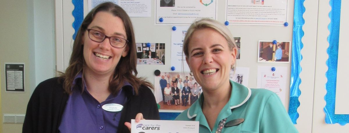 photo of a carer with a nurse