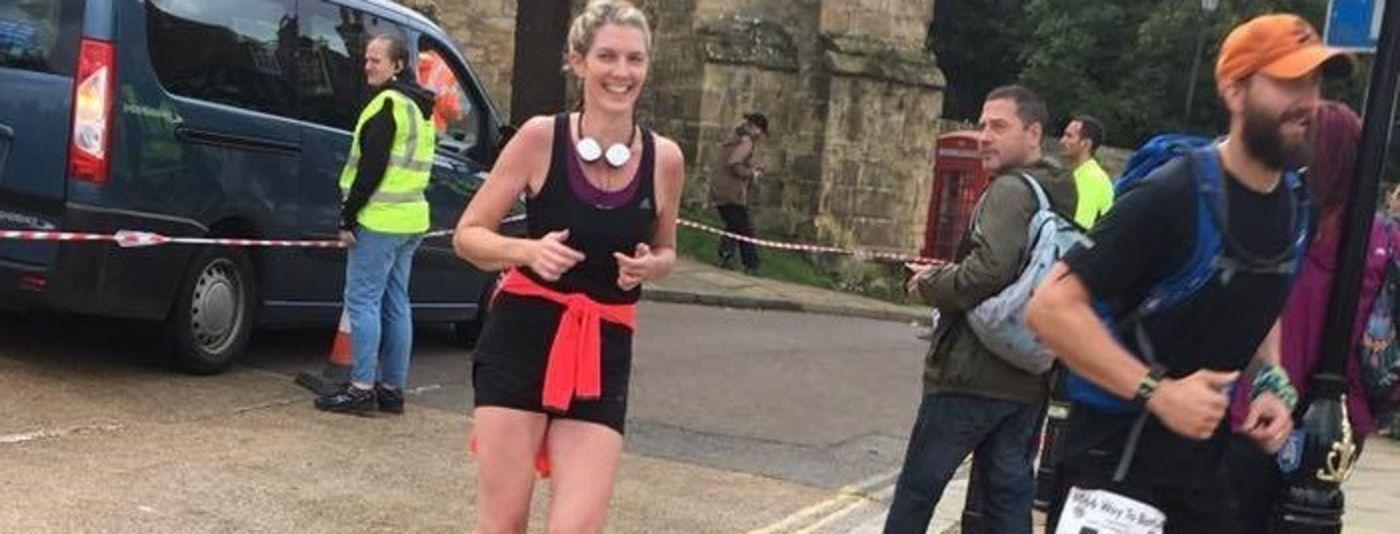 photo of Caroline Foord at the London Marathon
