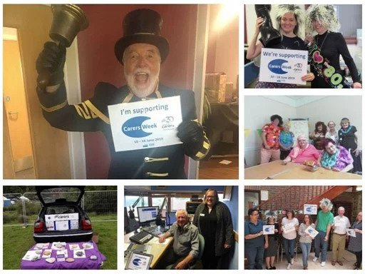 Gallery collage of carers celebrating carers week