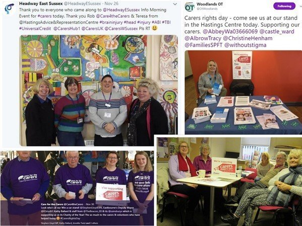 collage gallery of photos from carers rights day