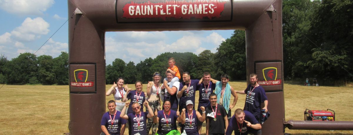 group photo of carers at the gauntlet games challenge