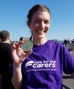 Caroline fundraiser for Care for the Carers