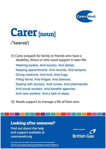 Definition of carer