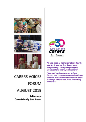 CFTC Carers Voices Forum Cover August 2020