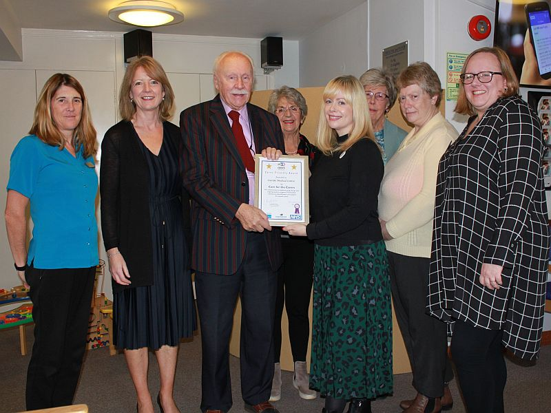 Seaside Medical practice care for the carers carer friendly award