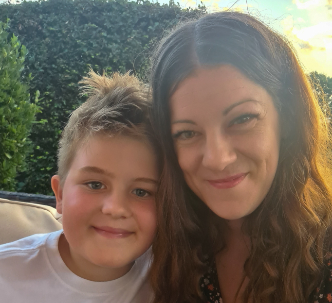 Oliver and Wendy, young carer in East Sussex